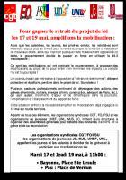Le PCF BABU appelle à participer aux manifestations prévues les 17 et19 mai à 11H  Ste Ursule- BAYONNE